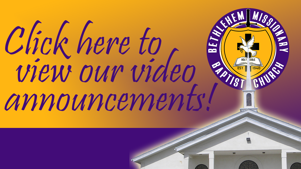 Click here to view BMBC weekly announcements video